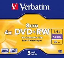 DVD+RW Verbatim 1.4GB 8cm