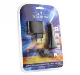 Set punjača Titanium USB/mUSB