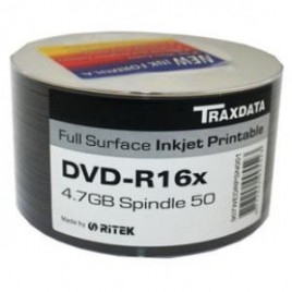 DVD-R Traxdata 16x print.