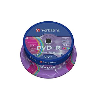 DVD+/-R Verbatim 25 Color