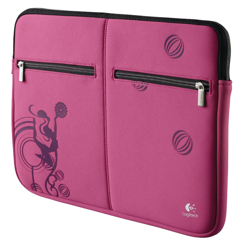 Sleeve Logitech Pink Bal. 15.4