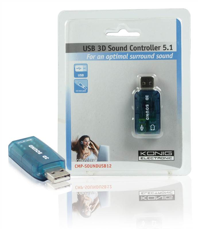 Zv Konig USB 5.1 3D Virtual